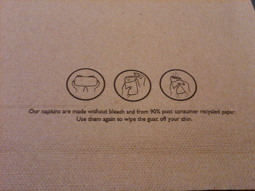 Chipotle Napkins